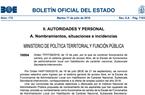 Publicado en el BOE el nombramiento de funcionarios de carrera de la Escala de funcionarios de administración local con habilitación de carácter nacional, Subescala Secretaría-Intervención, categoría de entrada
